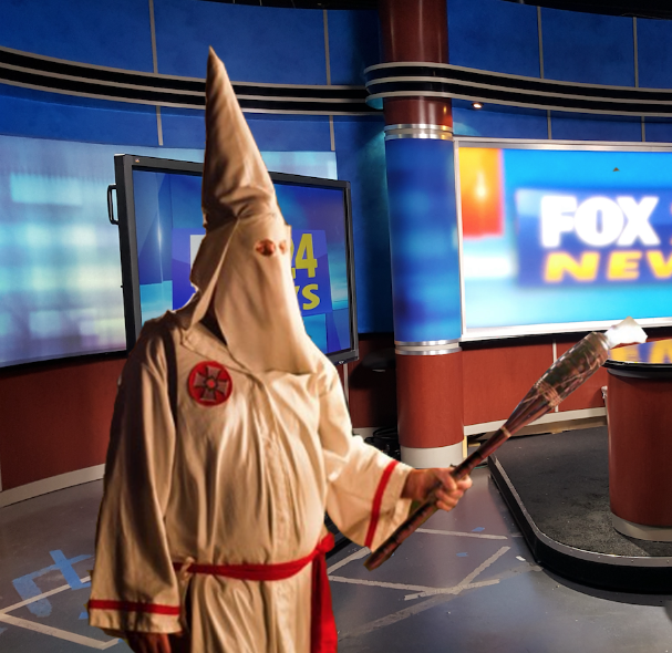 Tucker Carlson Forgets to Remove Klan Robe, Walks On to Set of Fox & Friends