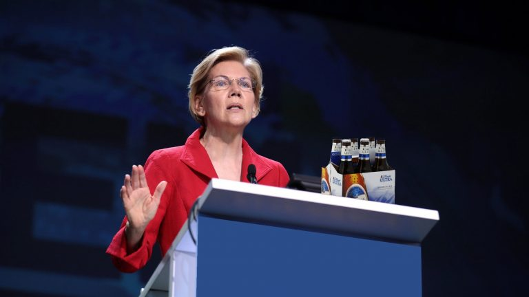 Elizabeth Warren Drinks Six Beers, Then Drunkenly Proposes a Warren-Sanders Presidential Ticket on Live TV