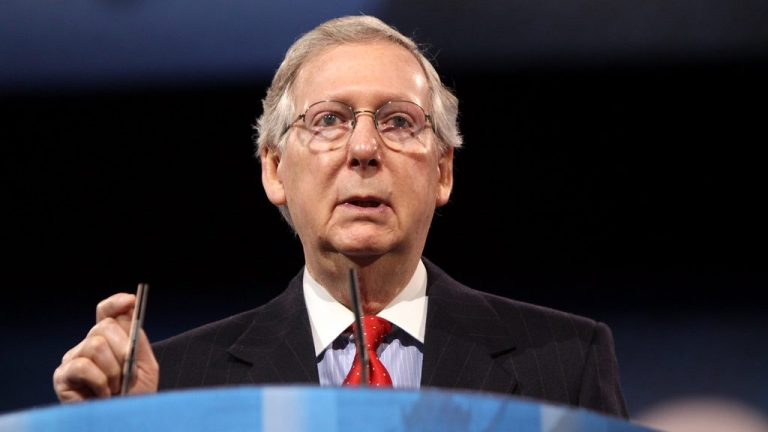 Mitch McConnell put on shell-rest after government healthcare fixes his broken shoulder