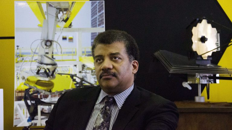 Human scientists say the Neil DeDrasse Tyson X-3000 is still learning to express human emotions