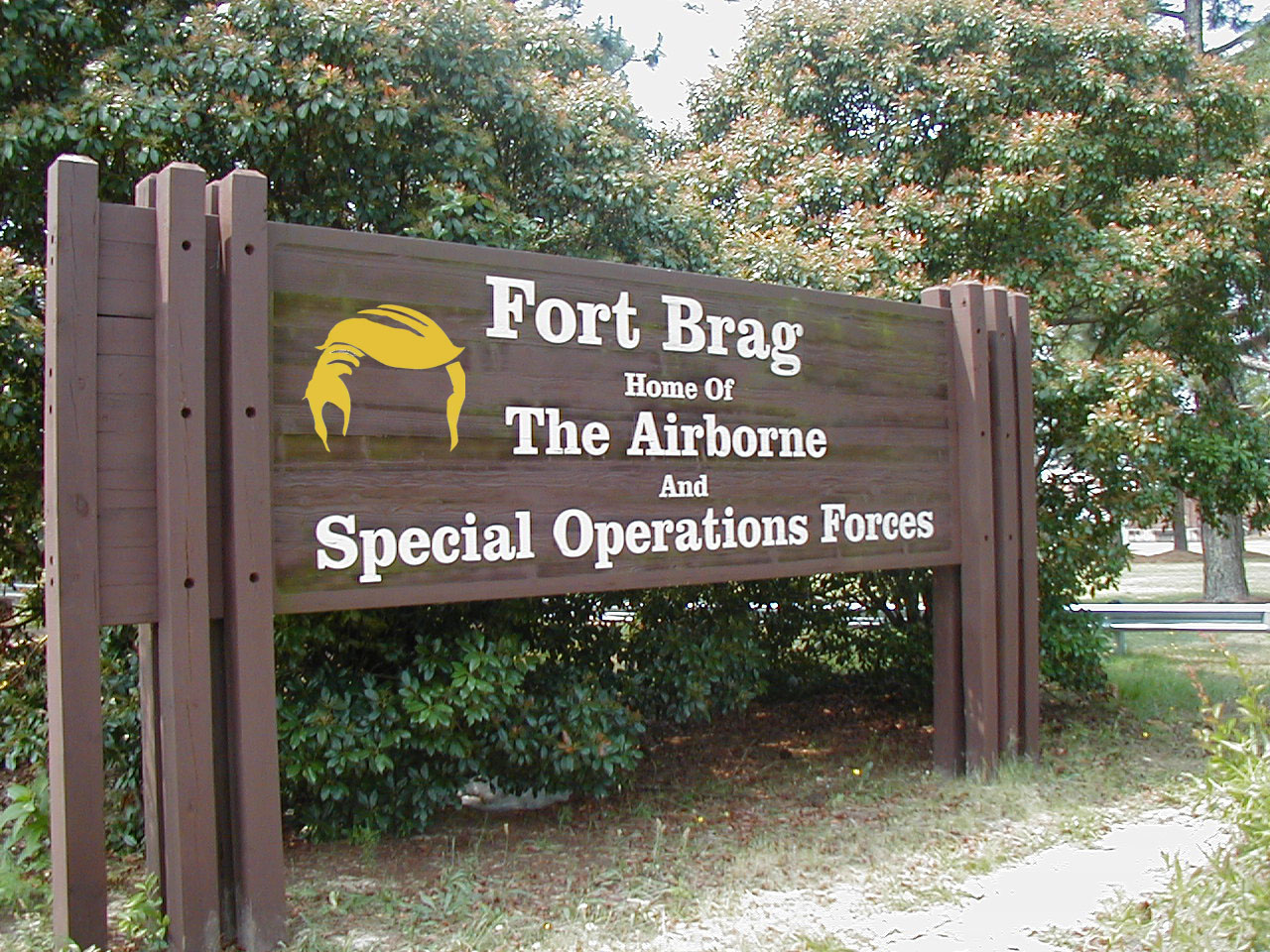 G Removed from Fort Brag in Honor of Donald Trump
