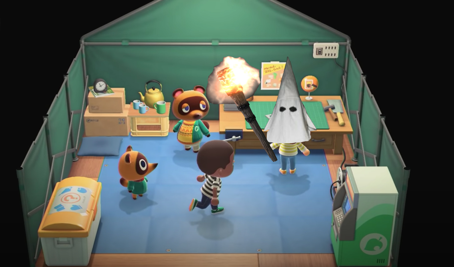 Animal Crossing adds tiki torches white hoods